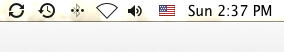 Flag menu on menubar